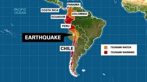 На юге Перу объявлена тревога из-за угрозы цунами после землетрясения в Чили
