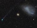 Cosmic Alignment Comet Lemmon, GC 47 Tucanae and the SMC