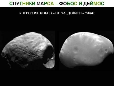 Тайны небесных спутников Земли и Марса
