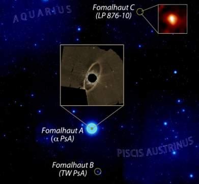 У тусклого карлика в звёздной системе Фомальгаут нашли кометный пояс