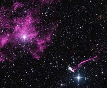 Быстро придвигающийся пульсар озадачил ученых