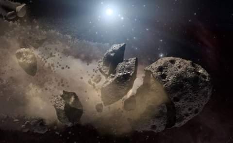 Зафиксировано столкновение пульсара с астероидом