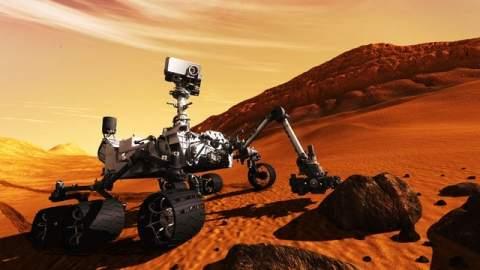 Космический зонд Curiosity готов к посадке на Марс.