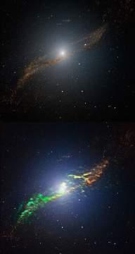У галактики Центавр А обнаружены образования, по форме напоминающие спиральные рукава