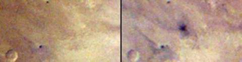 Аппарат MRO обнаружил новый кратер на Марсе