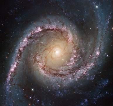 Спиральная галактика из созвездия Золотой Рыбы