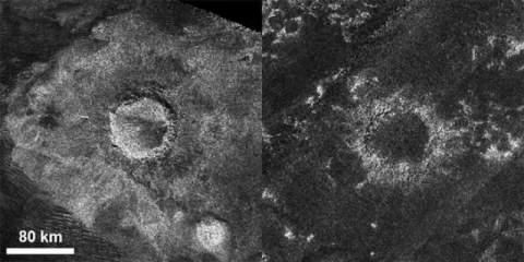На спутнике Сатурна исчезают кратеры