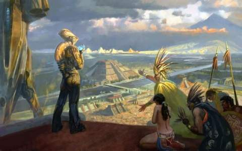 Контакты древних людей с пришельцами