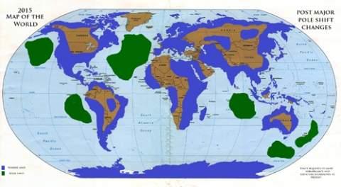 Карта МИРА после сдвига полюсов и земных изменений в 2012-2015 г.г.