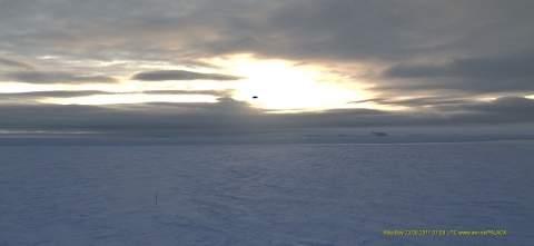 Антарктическая станция Neumayer, неизвестный объект на видео с веб-камеры