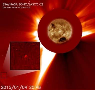 К Солнцу приближается неизвестная комета