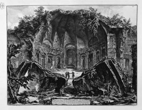 Свидетельство потопа в средние века в Италии на рисунках Джованни Баттиста Пиранези